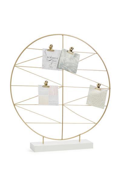 Organizador circular dorado