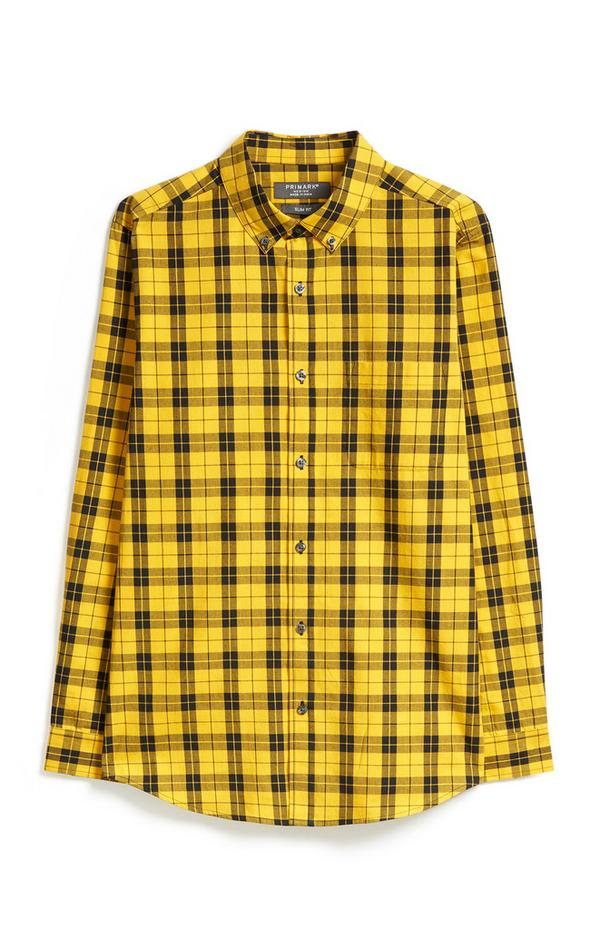 Geel geruit overhemd