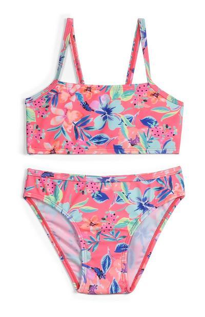 Bikini de flores para niña pequeña