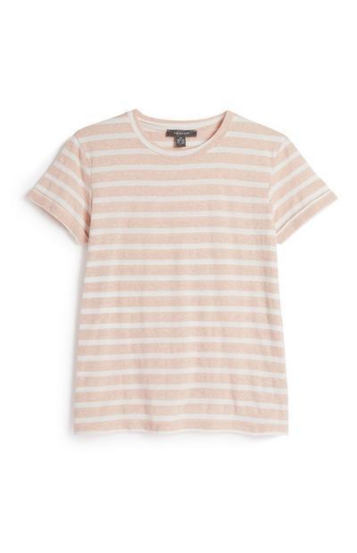 Blush Stripe Top