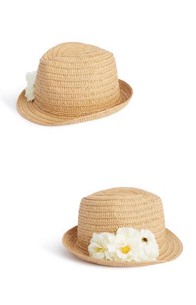 Strooien zomerhoed met bloem