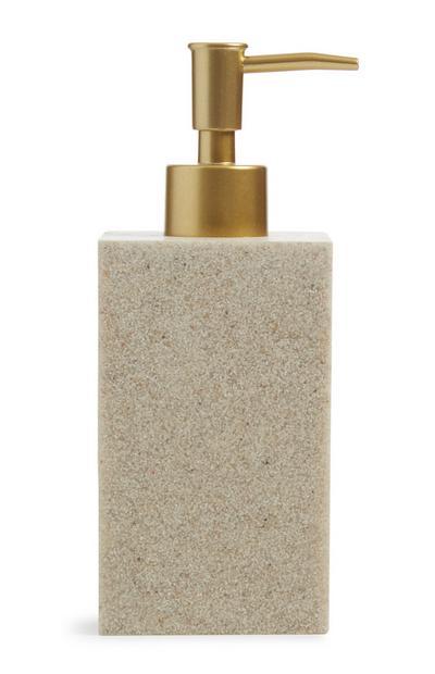 Dispensador de jabón con efecto piedra
