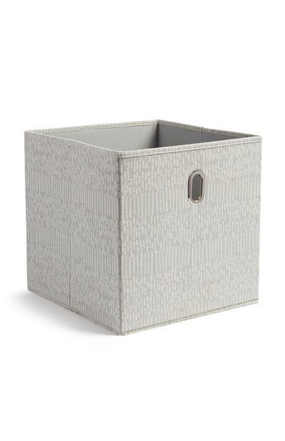 Boîte de rangement grise cube