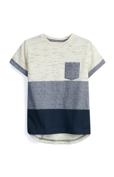 Camiseta a rayas para niño pequeño
