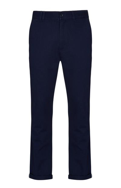 Calças chino azul-marinho