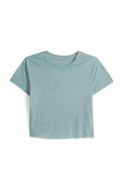 Blauw kort T-shirt