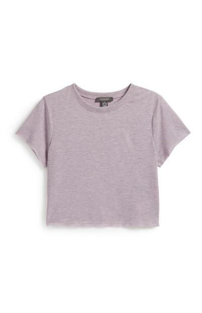Kurzes T-Shirt in Lila