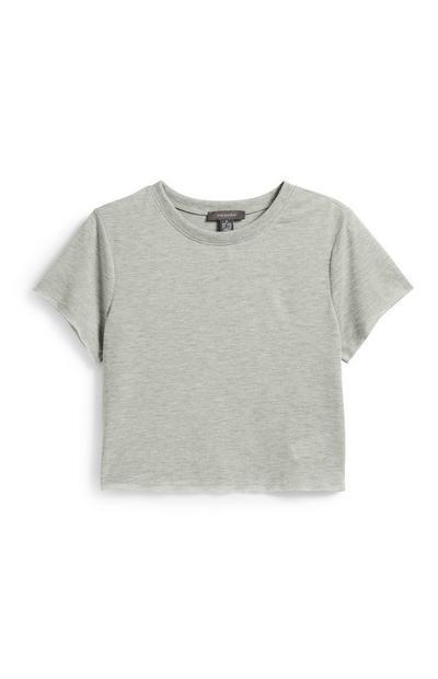 Grey Crop T-Shirt