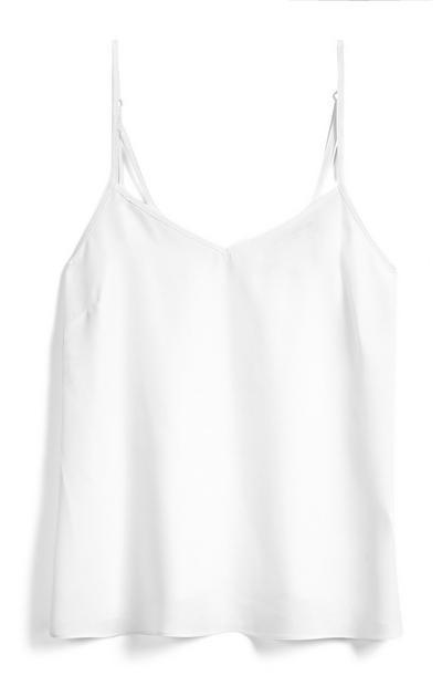 Camiseta de tirantes color marfil