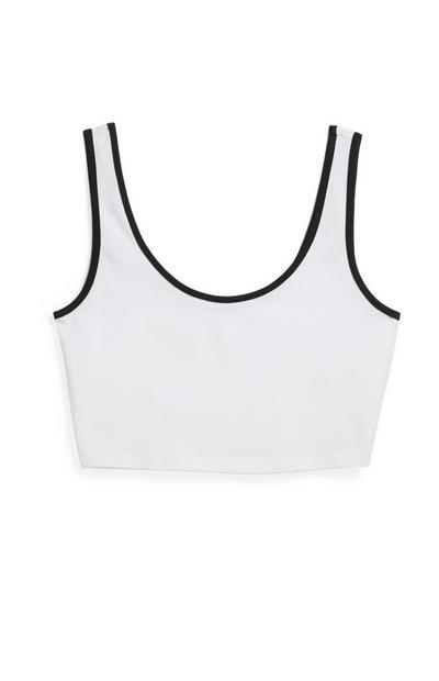 Weißes Jersey-Bralette