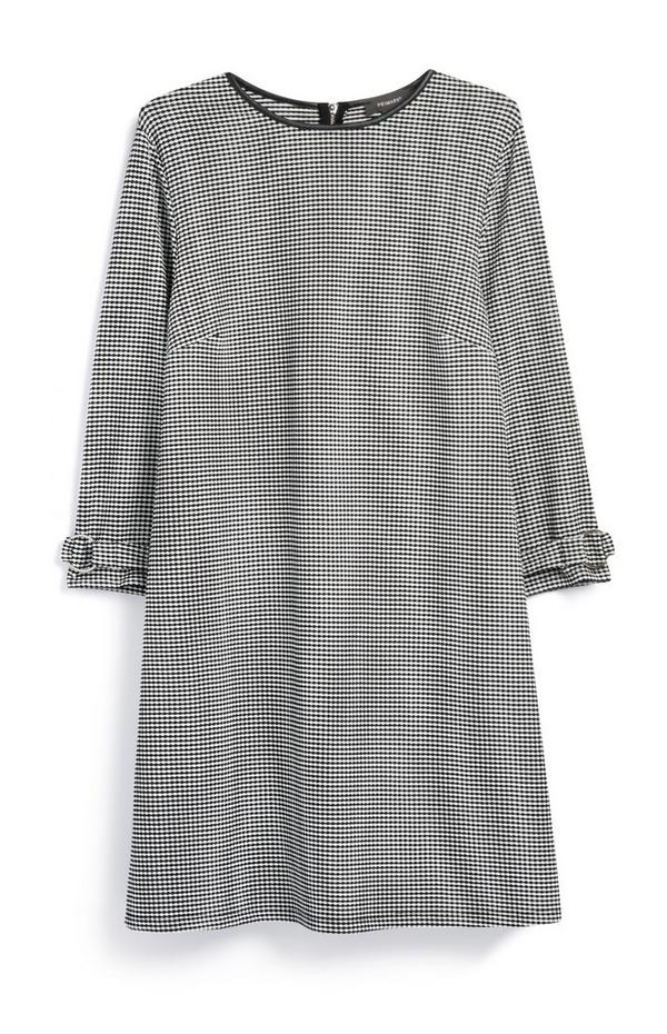 Jacquard Swing Cuff Dress