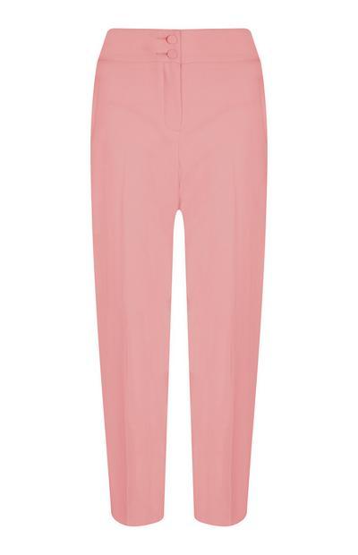 Pantalón de talle alto rosa