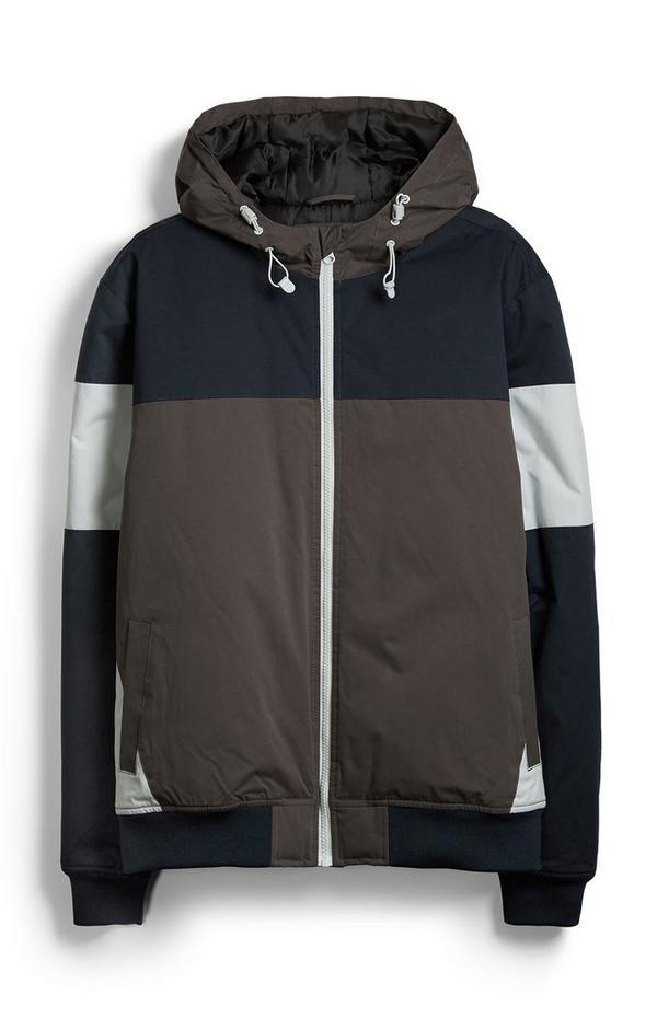 Gray Color Block Jacket