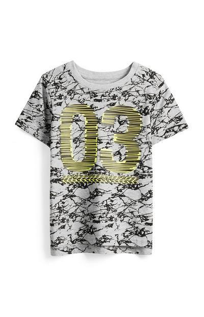 T-shirt estampada menino