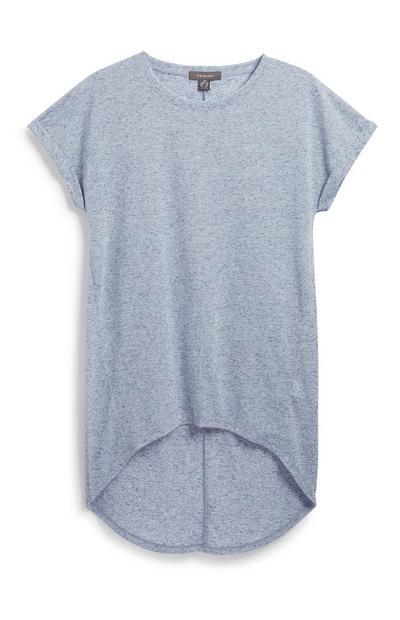 T-shirt bleu texturé