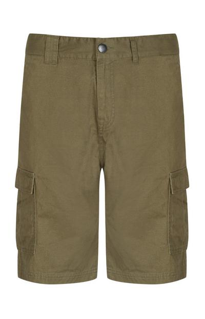 Shorts cargo color kaki