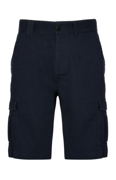 Pantalón corto cargo azul marino