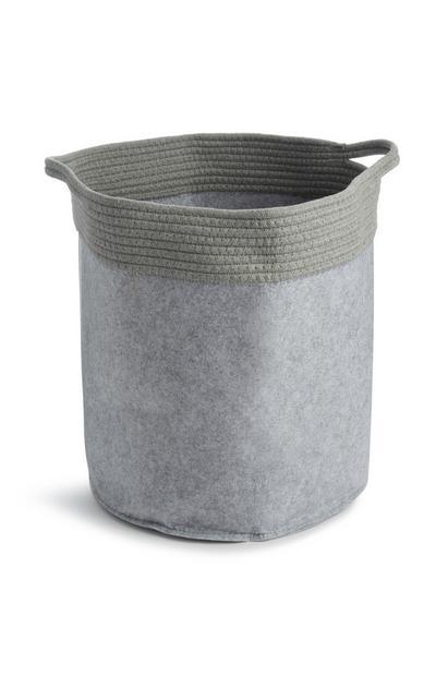 Siva torba za perilo z vrvjo