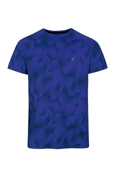 Blue Printed Sport Top