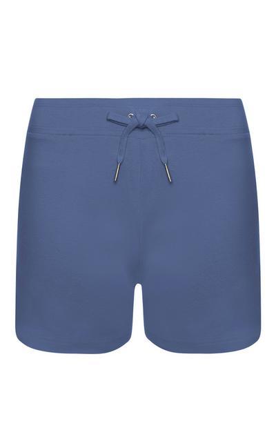 Short bleu marine en coton