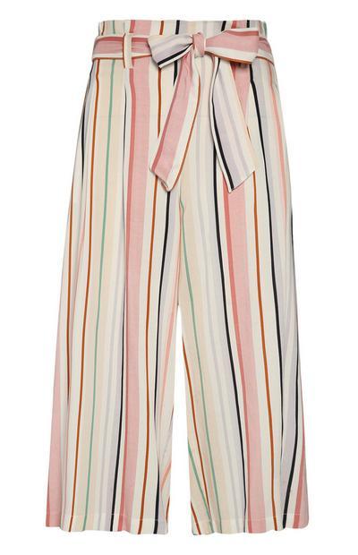 Stripe Belted Culotte