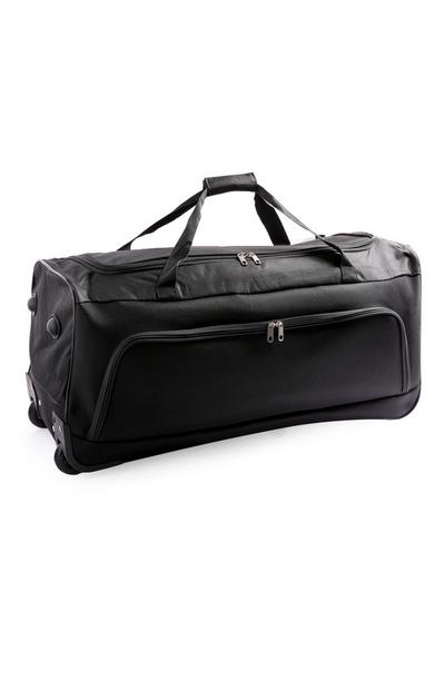 Large Black Trolley Duffle Bag