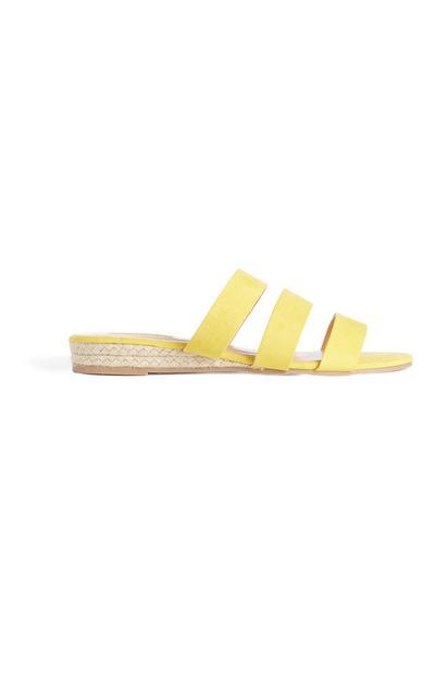 Sandálias tiras amarelo