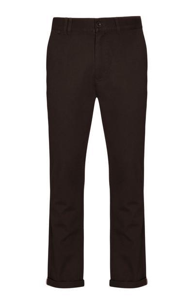 Pantaloni chino marroni