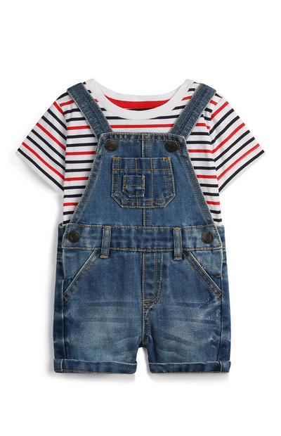 Baby Boy Dungaree Outfit Set