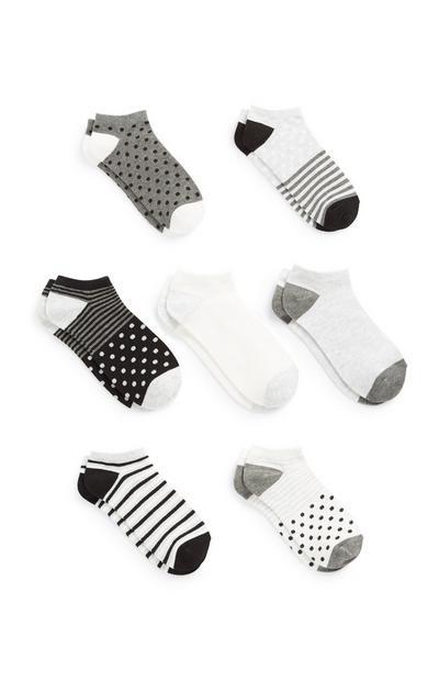 Pack 7 pares de calcetines tobilleros