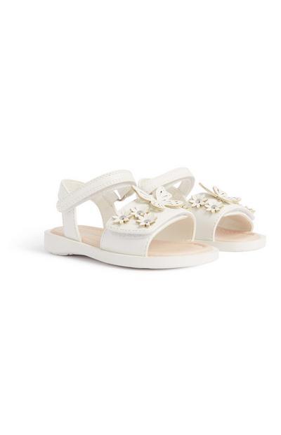 Beli dekliški sandali za dojenčke, preden shodijo