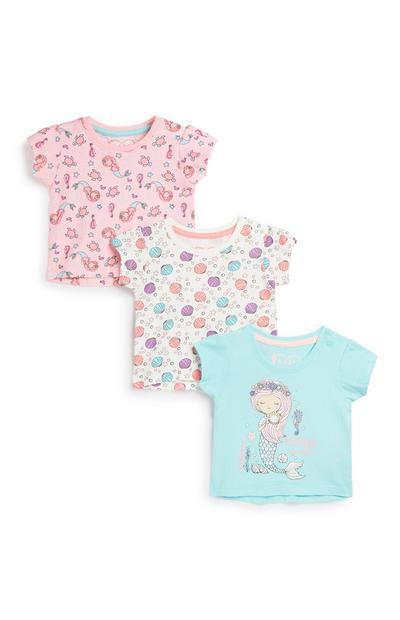 Babyshirt voor meisjes, 3 st.