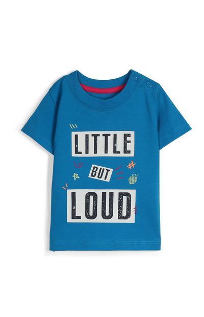 Camiseta con mensaje de bebé niño