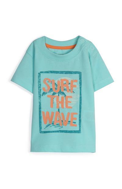 T-shirt con scritta da bimbo