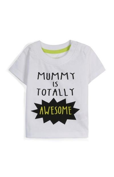 Camiseta con mensaje para bebé niño