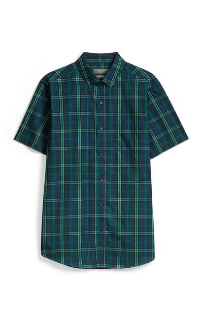 Camicia verde a quadri