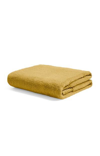 Mosterdgele handdoek