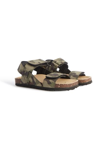 Sandalen met camouflageprint, jongens