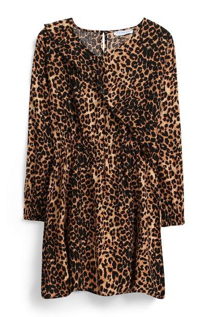 Robe à imprimé léopard ado