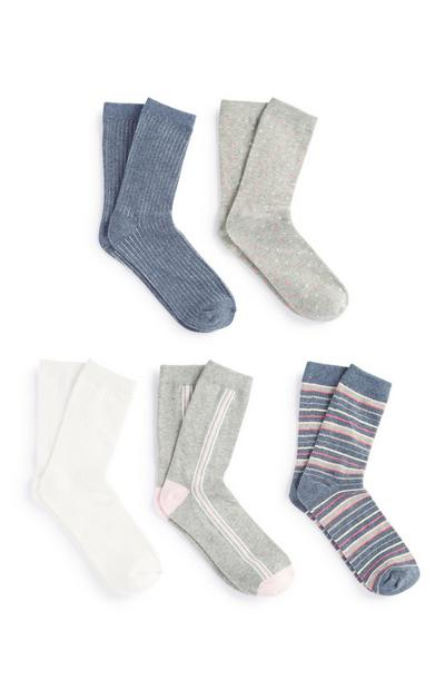 Pack 5 pares meias