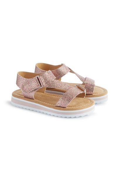 Sandales à paillettes fille