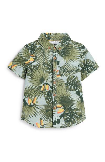 Overhemd met toekanprint voor jongens