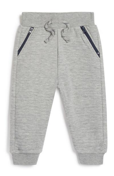 Sive hlače za prosti čas za fantke
