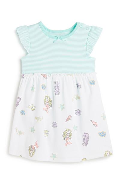Grenouillère-robe en jersey bébé fille