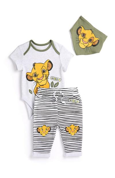 3-Pieces New Born Boy Lion King Outfit