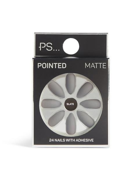 Faux ongles pointus mats