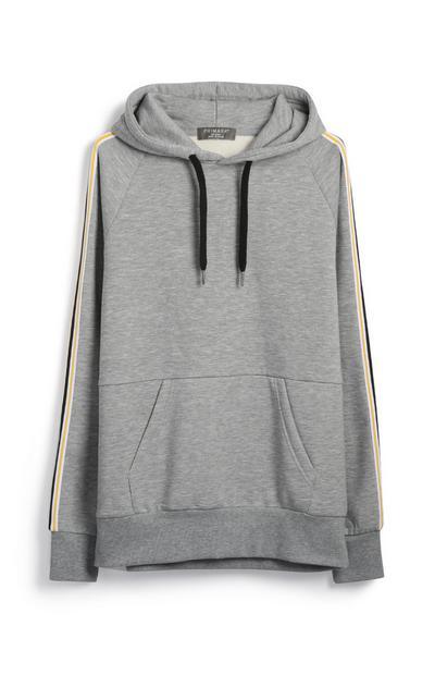 Camisola capuz cinzento