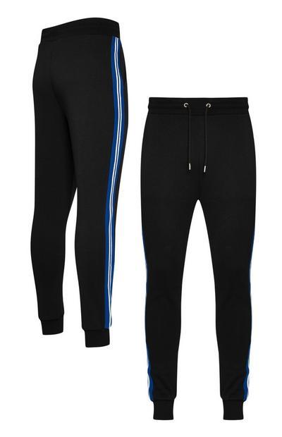 Zwarte joggingbroek met zijstreep