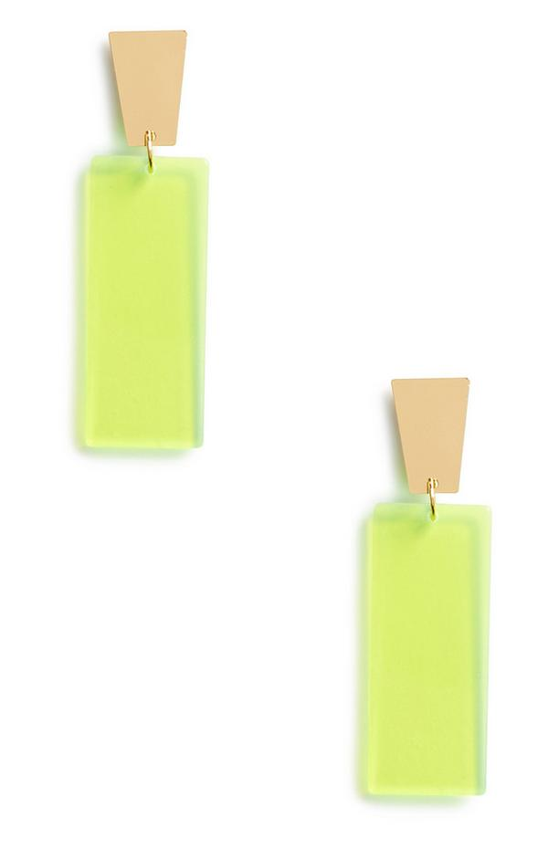 Orecchini verde fluo