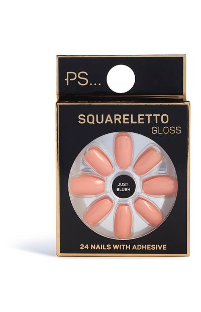 Faux-ongles brillants Squareletto